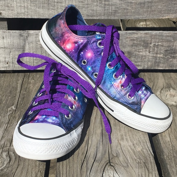 9e4dc6a9535ca5 Converse Shoes - 🆕List! Satin Galaxy Converse! New Laces! EUC!
